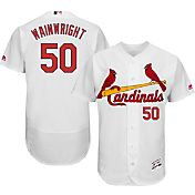 Majestic Men's Authentic St. Louis Cardinals Adam Wainwright #50 Home White Flex Base On-Field Jersey
