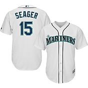 Majestic Men's Replica Seattle Mariners Kyle Seager #15 Cool Base Home White Jersey