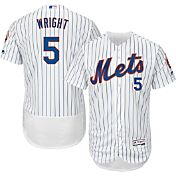 Majestic Men's Authentic New York Mets David Wright #5 Home White Flex Base On-Field Jersey
