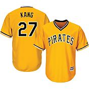 Majestic Men's Replica Pittsburgh Pirates Jung-ho Kang #27 Cool Base Alternate Gold Jersey
