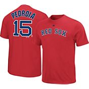 Majestic Triple Peak Men's Boston Red Sox Dustin Pedroia Red T-Shirt