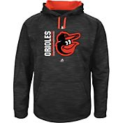 Majestic Men's Baltimore Orioles Therma Base On-Field Black Authentic Collection Pullover Hoodie