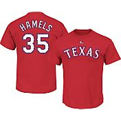 Majestic Men's Texas Rangers Cole Hamels #35 Red T-Shirt