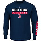 Majestic Men's Boston Red Sox Proven Pastime Navy Long Sleeve Shirt