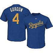 Majestic Men's Kansas City Royals Alex Gordon #4 Royal T-Shirt