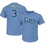 Majestic Men's Tampa Bay Rays Evan Longoria #3 Light Blue T-Shirt