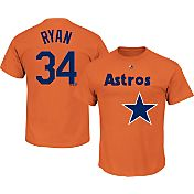 Majestic Men's Houston Astros Nolan Ryan #34 Orange T-Shirt