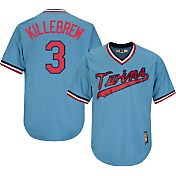 Majestic Men's Replica Minnesota Twins Harmon Killebrew Cool Base Light Blue Cooperstown Jersey