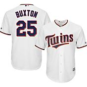 Majestic Men's Replica Minnesota Twins Byron Buxton #25 Cool Base Home White Jersey