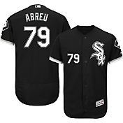 Majestic Men's Authentic Chicago White Sox Jose Abreu #79 Alternate Black Flex Base On-Field Jersey