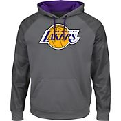 Majestic Men's Los Angeles Lakers Hardwood Classic Therma Base Armour II Grey Hoodie