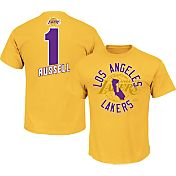 Majestic Men's Los Angeles Lakers D'Angelo Russell #1 Gold T-Shirt
