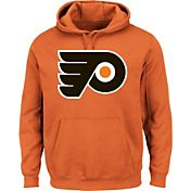 Majestic Men's Philadelphia Flyers Vintage Tek Patch Orange Hoodie