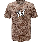 Majestic Youth Milwaukee Brewers Cool Base Digi Camo T-Shirt