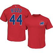 Majestic Youth Chicago Cubs Anthony Rizzo #44 Red T-Shirt