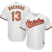 Majestic Youth Replica Baltimore Orioles Manny Machado #13 Cool Base Home White Jersey