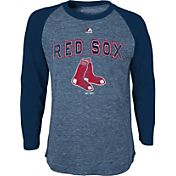 Majestic Youth Boston Red Sox Navy Raglan Long Sleeve Shirt