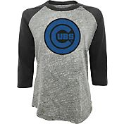 Majestic Threads Women's Chicago Cubs Raglan Three-Quarter Shirt