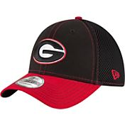 New Era Men's Georgia Bulldogs Black/Red Team Front Neo 39Thirty Hat