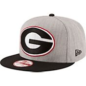 New Era Men's Georgia Bulldogs Grey/Black Grand Snap 9Fifty Adjustable Hat