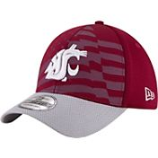 New Era Men's Washington State Cougars Crimson/Grey NE 15 Stars 39Thirty Performance Hat