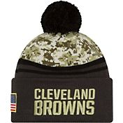 New Era Men's Cleveland Browns Salute to Service 2016 Camo Cuff Knit