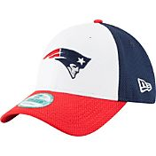 New Era Men's New England Patriots Perfect Block White 9Forty Adjustable Hat