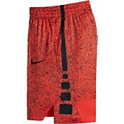 Nike Boys' Dry Elite Stripe Printed Basketball Shorts