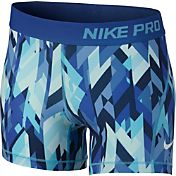 Nike Girls' 3'' Pro Cool Geoprism Printed Shorts