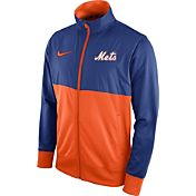 Nike Men's New York Mets Royal/Orange Full-Zip Track Jacket