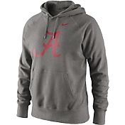 Nike Men's Alabama Crimson Tide Grey Classic Logo Hoodie