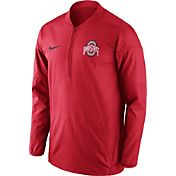 Nike Men's Ohio State Buckeyes Scarlet Lockdown Half-Zip Performance Jacket