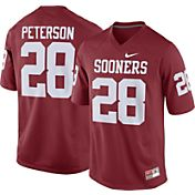 Nike Men's Adrian Peterson Oklahoma Sooners #28 Crimson Replica College Alumni Jersey