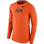 Nike Men's Oklahoma State Cowboys Orange Player Dri-FIT Touch Performance Long Sleeve Shirt