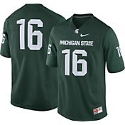 Nike Men's Michigan State Spartans #16 Green Game Football Jersey