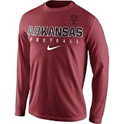 Nike Men's Arkansas Razorbacks Cardinal Football Practice Long Sleeve Shirt