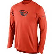 Nike Men's Oregon State Beavers Orange ELITE Shooter Long Sleeve Shirt