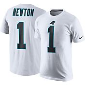 Nike Men's Carolina Panthers Cam Newton #1 Pride White T-Shirt