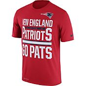 Nike Men's New England Patriots 'Go Pats' Performance Red T-Shirt