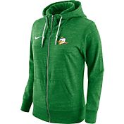 Nike Women's Oregon Ducks Heathered Apple Green Tailgate Gym Vintage Full-Zip Hoodie