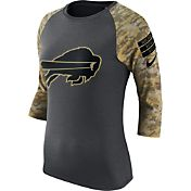 Nike Women's Buffalo Bills Salute to Service 2016 Anthracite Raglan T-Shirt