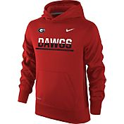 Nike Youth Georgia Bulldogs Red Therma-FIT Hoodie