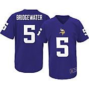 NFL Team Apparel Youth Minnesota Vikings Teddy Bridgewater #5 Purple T-Shirt