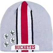 OSU Youth Ohio State Buckeyes Gray Helmet Head Knit Beanie