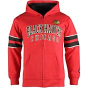 Old Time Hockey Youth Chicago Blackhawks Felix Red Full-Zip Hoodie