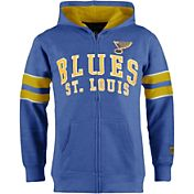 Old Time Hockey Youth St. Louis Blues Felix Royal Full-Zip Hoodie
