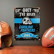 Party Animal Carolina Panthers Embossed Metal Sign