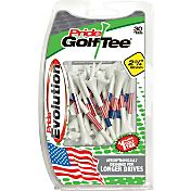 "Pride Sports Evolution U.S.A. Flag 2.75"" Golf Tees – 30-Pack"