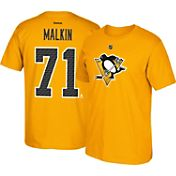 Reebok Men's Pittsburgh Penguins Evgeni Malkin #71 Gold Alternate Player T-Shirt