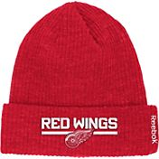 Reebok Men's Detroit Red Wings Center Ice Cuffed Knit Hat